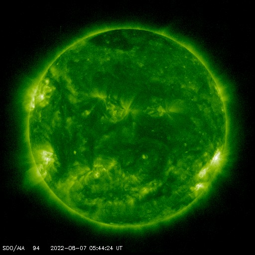 SDO solar image - 94 angstroms - Courtesy of NASA/SDO and the AIA, EVE, and HMI science teams.