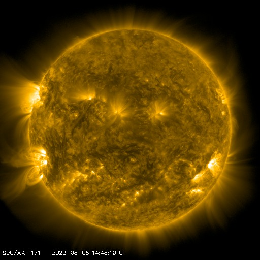 SDO solar image - 171 angstroms - Courtesy of NASA/SDO and the AIA, EVE, and HMI science teams.