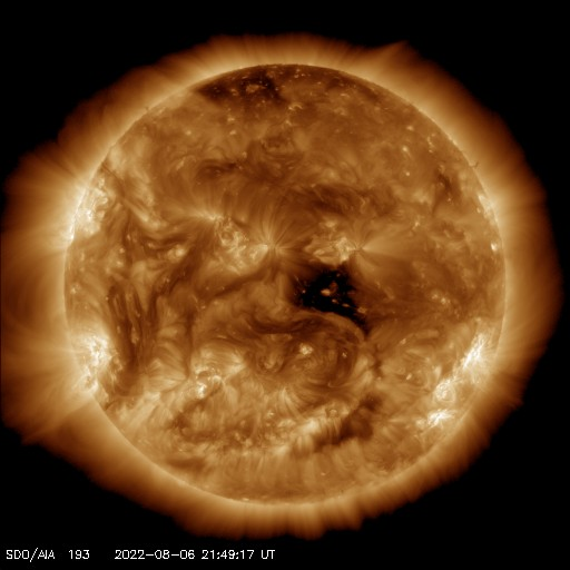 SDO solar image - 193 angstroms - Courtesy of NASA/SDO and the AIA, EVE, and HMI science teams.