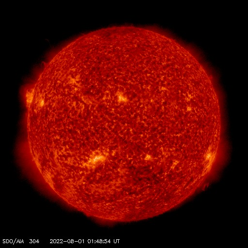 SDO solar image - 304 angstroms - Courtesy of NASA/SDO and the AIA, EVE, and HMI science teams.