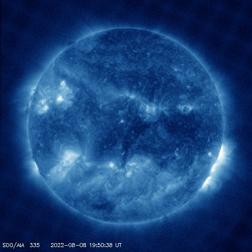 SDO solar image - 335 angstroms - Courtesy of NASA/SDO and the AIA, EVE, and HMI science teams.