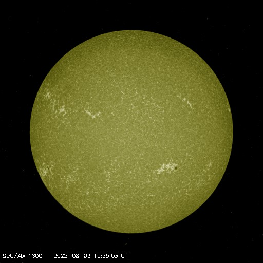 SDO solar image - 1600 angstroms - Courtesy of NASA/SDO and the AIA, EVE, and HMI science teams.